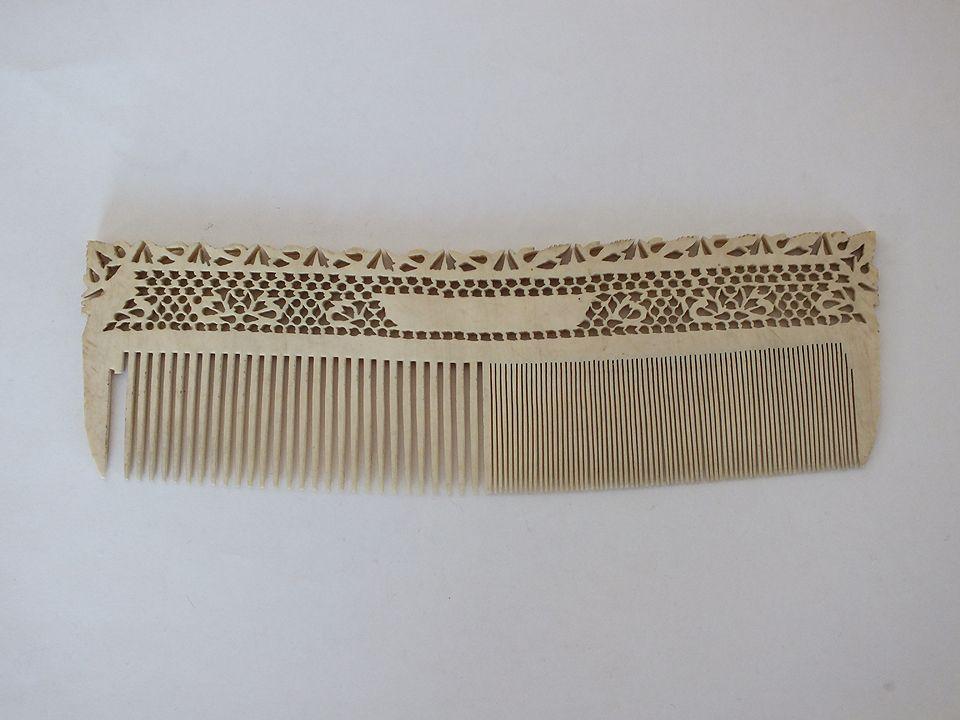 Antique Bone Comb. 19th Century