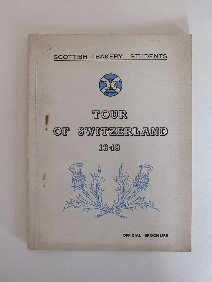 Scottish Bakery Students Tour Of Switzerland 1949, Official Brochure