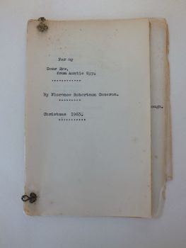 Florence Robertson Cameron. Collection Of Poems, Verse, Hand Typed Copy. 1963
