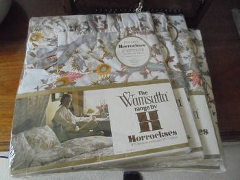 Horrockses Percale Sheets And Pillowcases Set, Wamsutta Range, Veronica Design, Original Sealed Packaging.