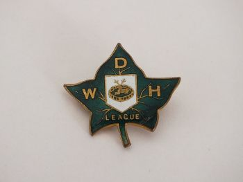 Ivy League Enamel Pin Badge, W D H, Fattorini