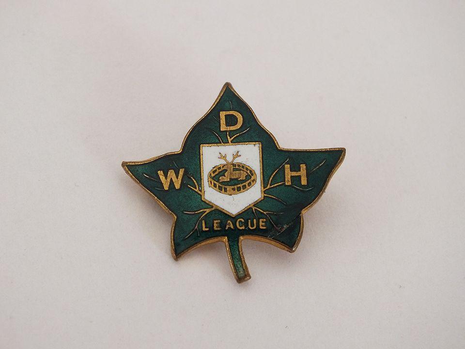 Ivy League Enamel Pin Badge, W D H, Fattorini