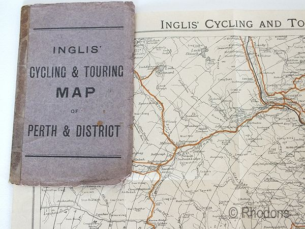 Inglis Cycling & Touring Map Of Perth & District, Scotland