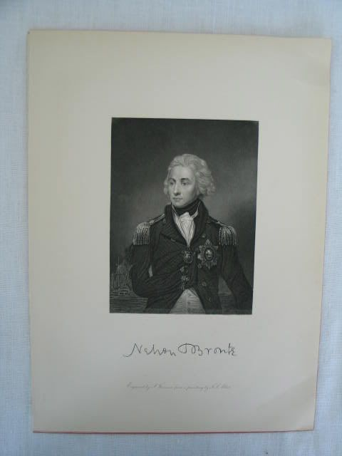 Lord Nelson (1758-1805), Victorian Portrait Print by S Freeman After F S Abbot