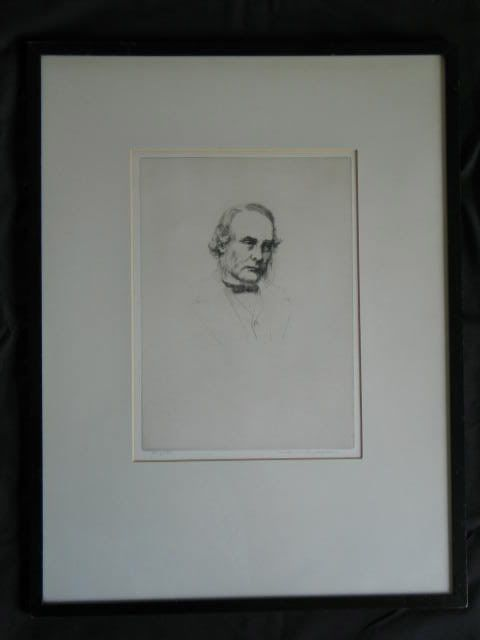 Lord Lister Artist Signed Etching By WILFRED C APPLEBY