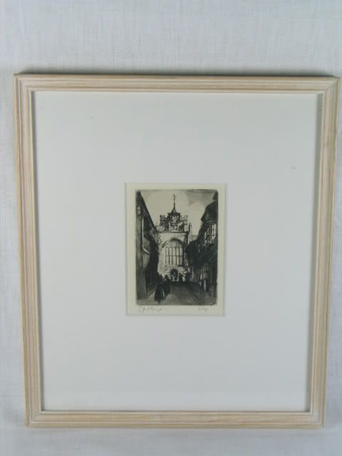 St Marys Church, Rye, East Sussex, Etching
