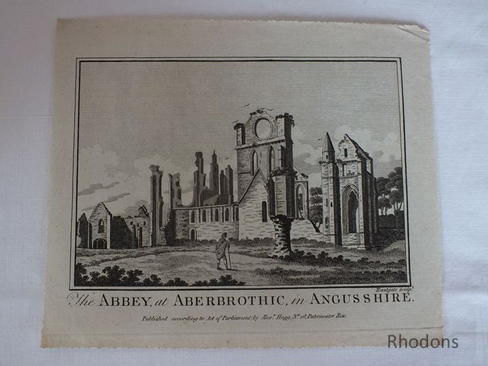 Abbey At Aberbrothic In Angusshire, Scotland. Circa 1780s