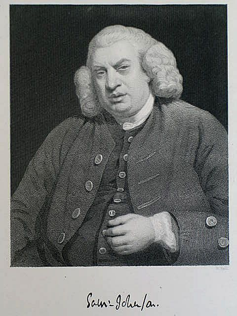 Samuel Johnson, Victorian Portrait Print By W Hall