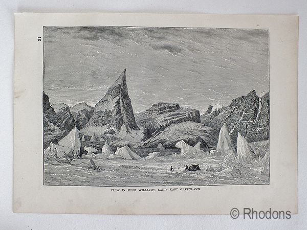 View Of King Williams Island, East Greenland 19th Century Arctic Region Pri
