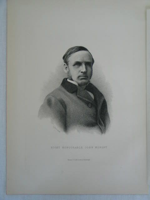 Right Honourable John Morley, Victorian Portrait Print By C Laurie