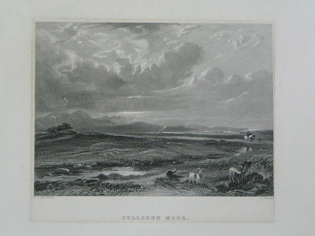 Culloden Moor. Antique Scottish Landscape Print. T Jeavons, D O Hill R.S.A.