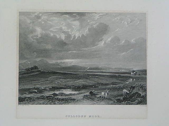 Culloden Moor. Antique Scottish Landscape Print. T Jeavons, D O Hill R.S.A.