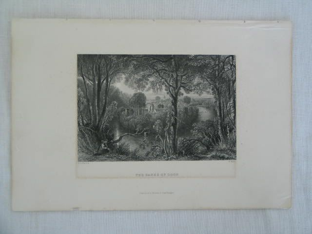 The Banks Of Doon By W Miller, D O Hill S.A. Antique Scottish Landscape Print