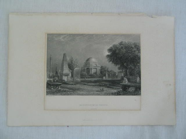 Robert Burns Mausoleum, Antique Print by W Forest, D O Hill R.S.A.