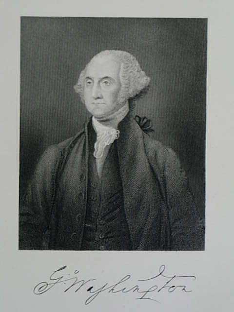 George Washington, Victorian Portrait Print By S Freeman After Stuart