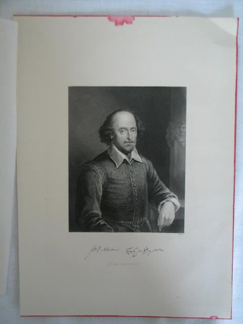 William Shakespeare. Antique Portrait Print By W Hall