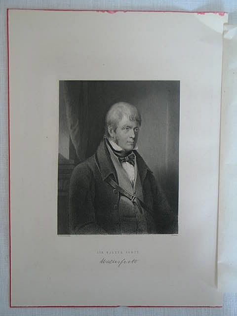 Sir Walter Scott Antique Print By J B Bird After G S Newton R.A.