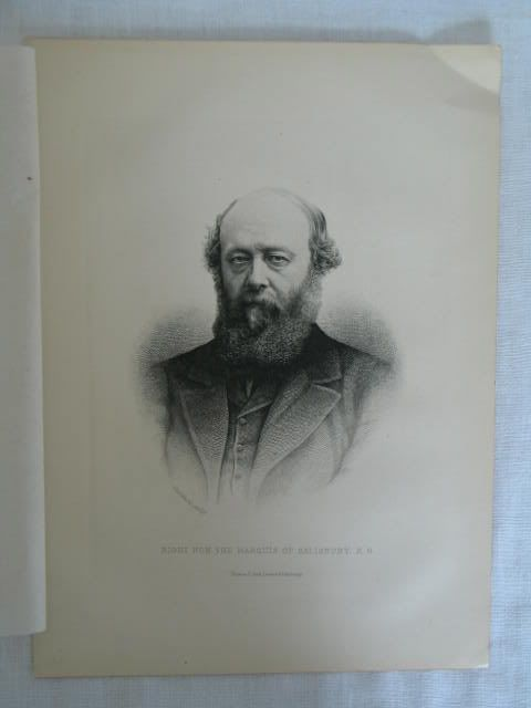 The Marquis Of Salisbury K.G., Victorian Portrait Print By C Laurie