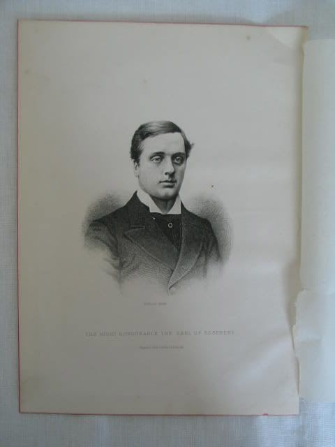 The Earl Of Roseberry By C Laurie, Victorian Portrait Print