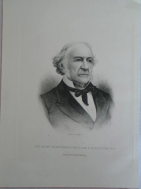 William Gladstone M.P. Antique Print by C Laurie