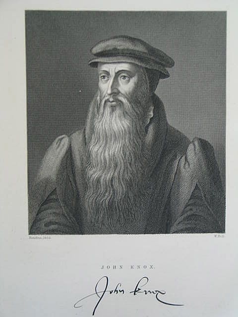 John Knox, by W Hall After Hondius 1602.