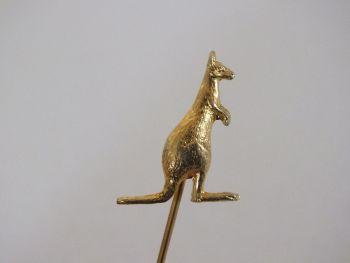 Goldtone Australian Kangaroo Lapel Stick Pin