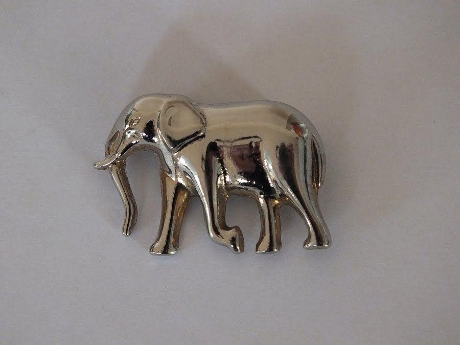 Elephant Pin Brooch