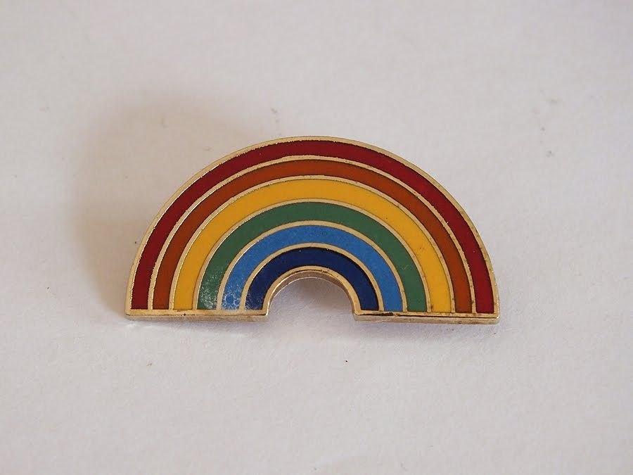 Rainbow Enamel Pin Brooch