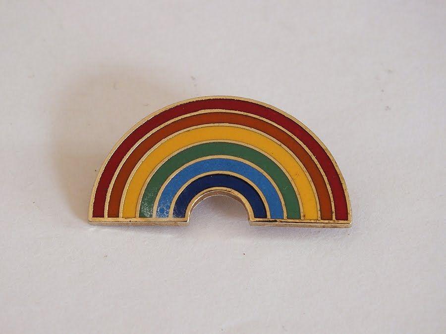 Rainbow Enamel Pin Brooch