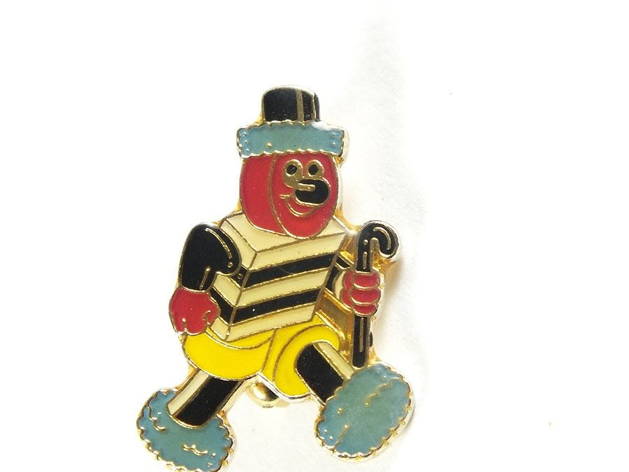 Bertie Bassett Novelty Pin Brooch, Lapel Badge