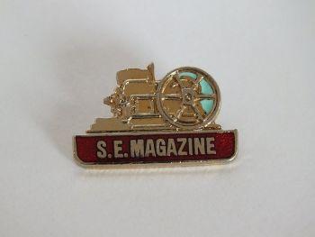 Steam Engine Magazine, S.E. Enamel Lapel Pin Badge