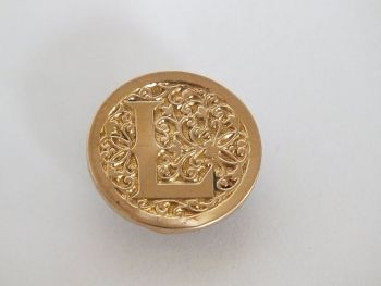 Vintage Monogram Pin