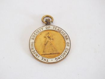 Imperial Society Of Teachers Of Dancing Award Pendant,1954