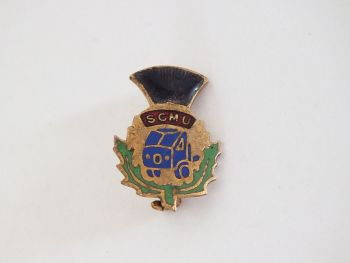 Scottish Commercial Motormens Union Badge, S C M U