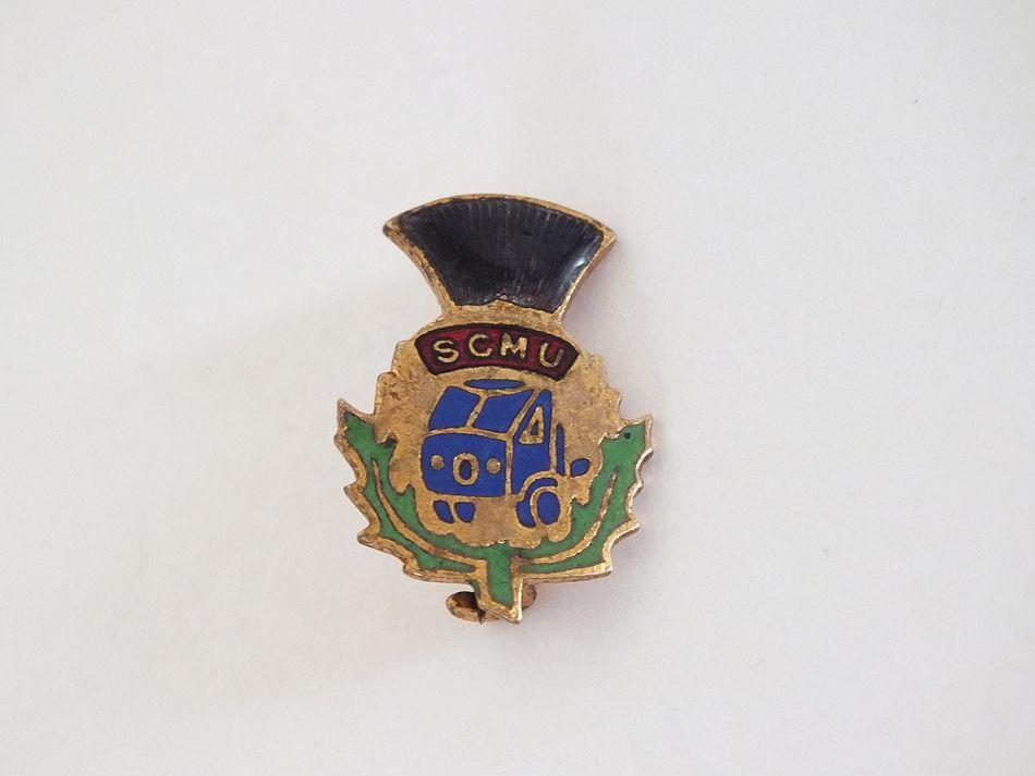 Scottish Commercial Motormens Union Badge, S C M U