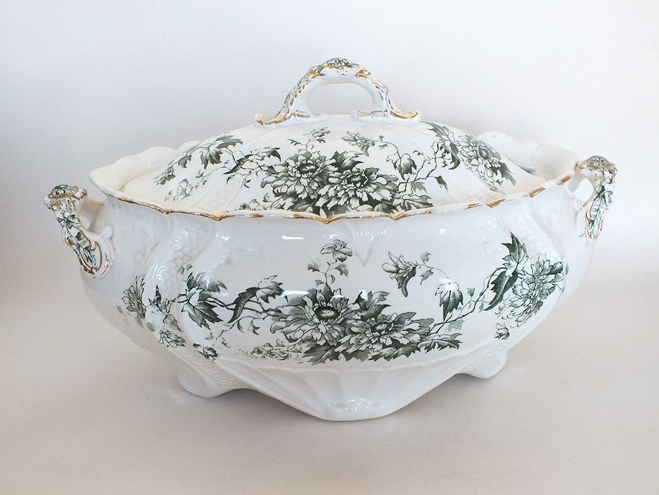Antique Tureen by Keeling & Co. Aster Pattern