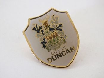 City Of Duncan Lapel Pin Badge