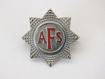 WW2 Auxiliary Fire Service Corps AFS Cap Badge