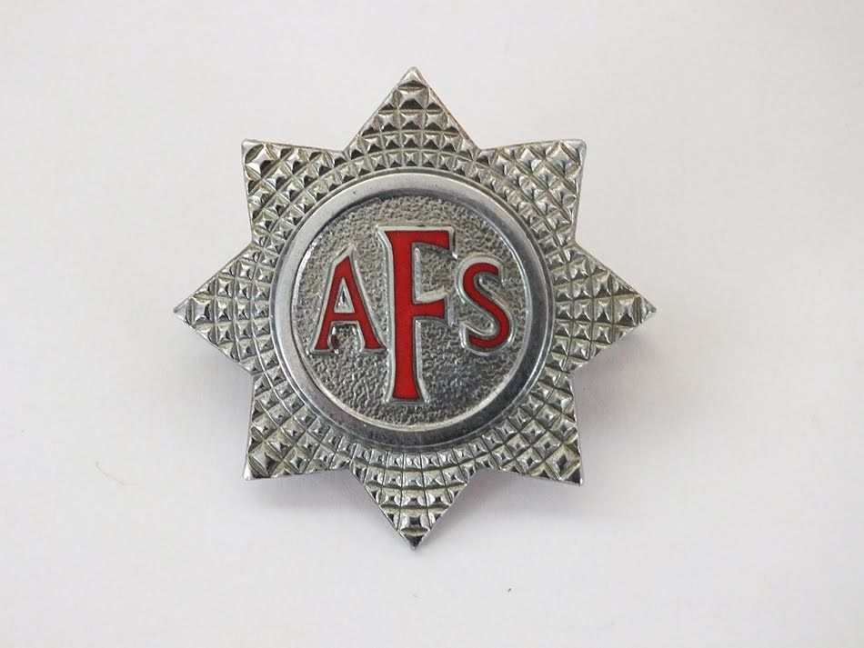 Original WW2 Auxiliary Fire Service Corps AFS Cap Badge