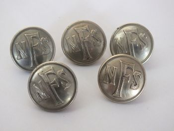 WW2 National Fire Service (NFS) Uniform Buttons.