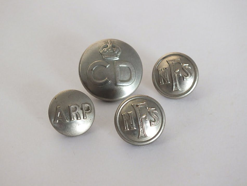 World War Two Home Guard, Civil Defence Buttons, Mixed Lot