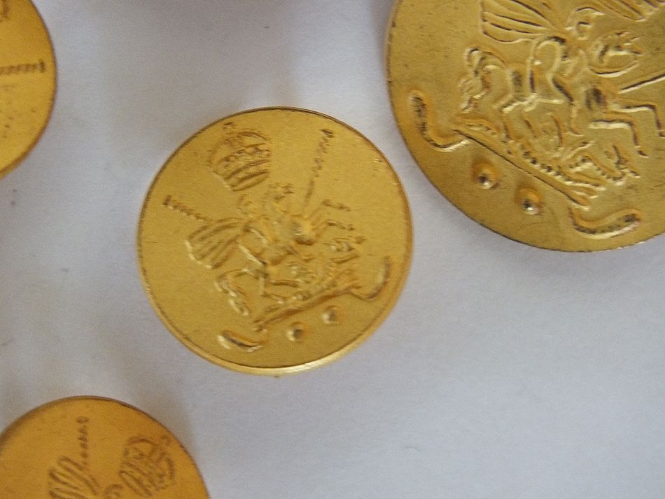 Vintage Holland and Sherry Gilt Polo Team Blazer Buttons