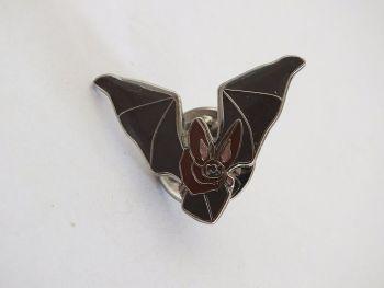 Wildlife Enamel Lapel, Tie Pin, Brown Bat