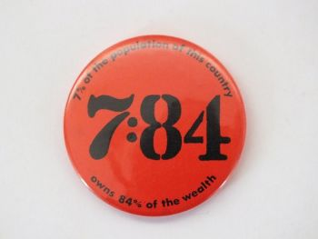 Vintage Political Statement Button Pin Badge 7:84