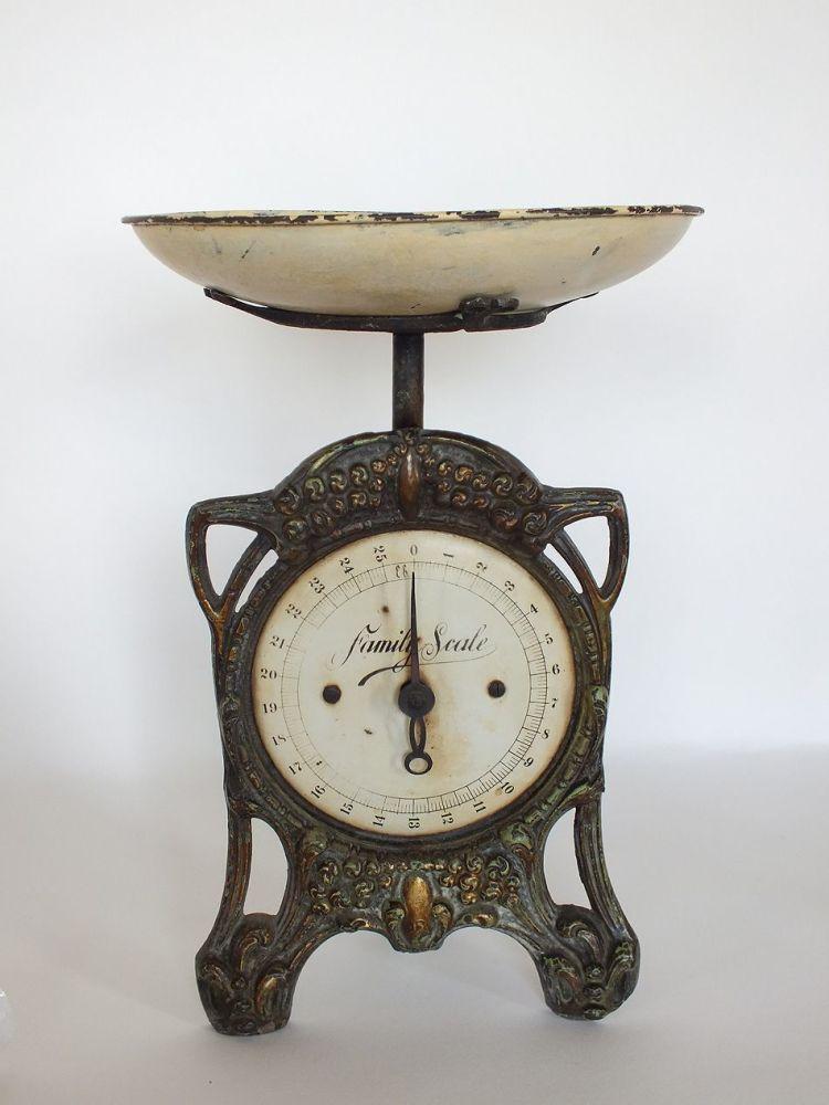 Antique Cast Metal Kitchen Scales
