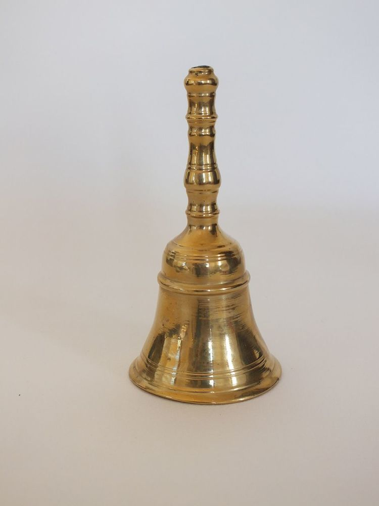 Vintage Brass Bell With Handle