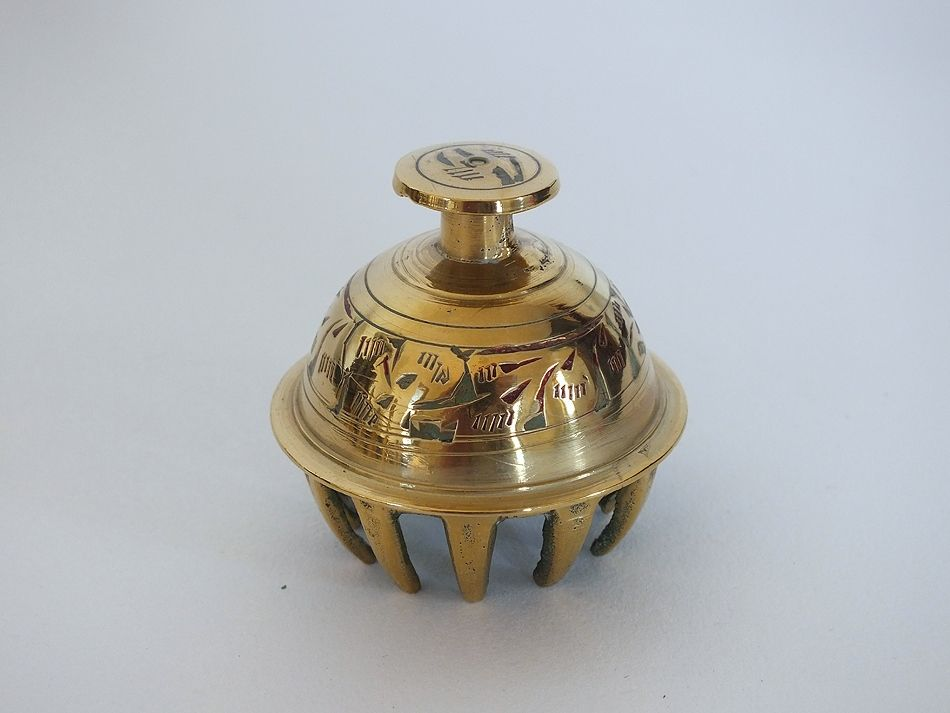 Other Asian Antiques Vintage Oriental Brass And Enamel Elephant Bell Antiques