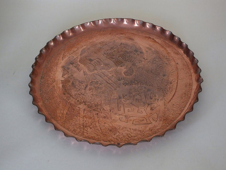 "Copper Serving Tray 11.25"" Diameter"