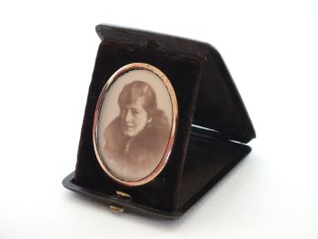 Antique Pocket Sized Desk, Bedside Photo Frame.
