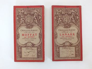 Ordnance Survey of Scotland Maps, Moffat, Lanark, Early 1900s, Set Of 2